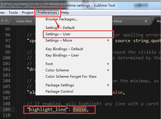 Sublime Text开启当前行背景高亮显示.jpg